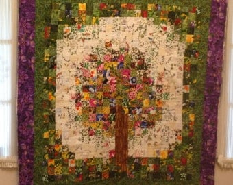 Watercolor Tree quilt