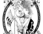 My body, my choice - François Amoretti - Violette #4 - Tirage A4