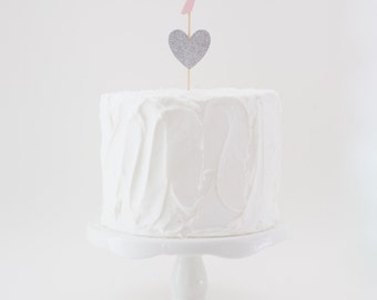 Numbered Cake Topper with Heart Accent