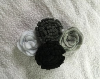 Four Flower Hair Clip, Magnet, or Brooch