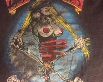 Mega Rare True Vintage Guns N Roses European 1993 Tour Rock Shirt 90's SOFT Thin -XL