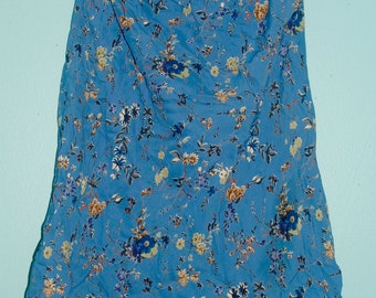 blue floral skirt.  size: small / medium