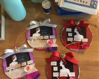 Ornament Flapper handmade Upcycle CD