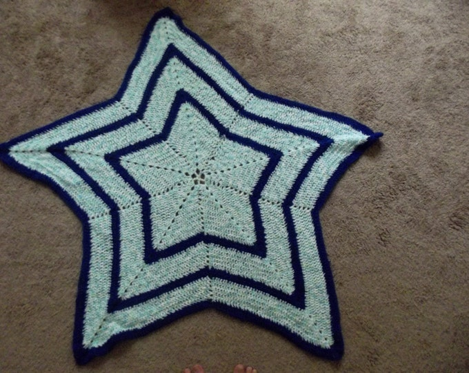 Crochet star blanket, personalized, customizable, baby blanket, boy gift, girl gift, baby shower gift, birthday gift, Christmas gift