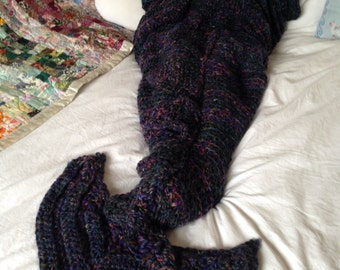 Crocheted Dragon's Tail Blanket