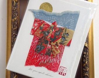 Red Kimono Card
