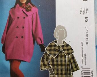 McCalls 5939 Coat Sewing Pattern 8-16