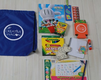 Back Packs, Activity Bags,Boys Crafty On The Go Bag,Boys Activities,Boys Back Packs,Boys Gift BagsWedding Gift Bags