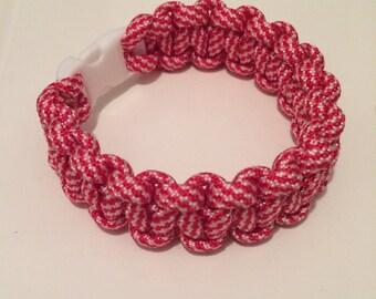 Red & White Paracord Bracelet
