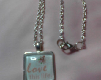 "Necklace ""Love this life"", 12"""