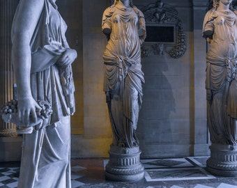 Greek Statues From The Louvre Museum In Paris, France - Photo - Still Life