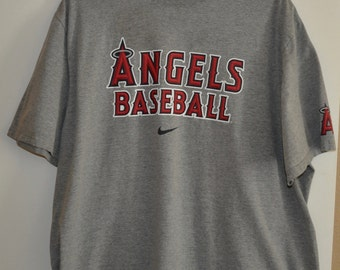 Men's Sz 3X Nike Angels Baseball Official Merchandise Gray T-Shirt Tee