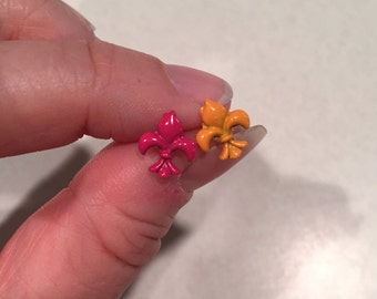 Fleur De Lis plastic post earrings *Perfect for toddler/small/sensitive ears*