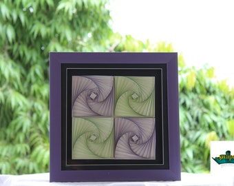 Zentangle fusion frame - Quilling art