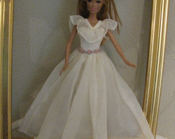 Barbie doll clothes-soft pastel ball gown