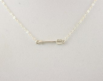 Sterling Silver Arrow Charm Necklace BP4048