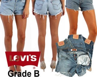 Vintage Levis High Waisted Denim Shorts Grade B