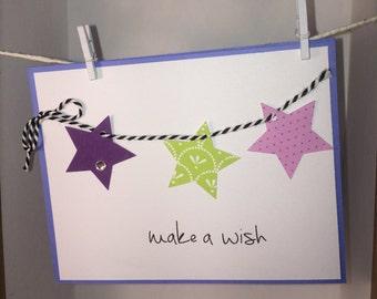 Make a Wish Stars Card