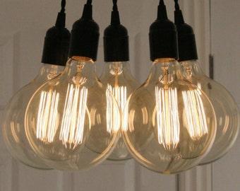 5 Pendant Even Edison Bulb Chandelier