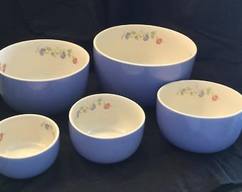 Hall Morning Glory Nesting Bowls Set of 5