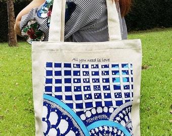 Canvas tote bags , Canvas art, Zentangle art, Tote bags, Shoulder bags, Shopping bags, School bags, Handmade tote bags, tote bags for school