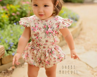 Sitter Romper, Sitter Outfit, Floral Romper, Cake Smash Romper, Cake Smash Outfit, Photography Romper, Photography Prop