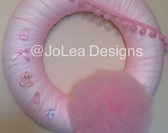 Baby girl wreath / Door Wreath
