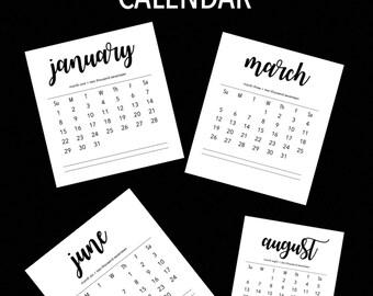 2017 + 2018 Printable Calendar