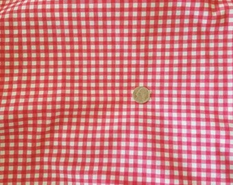 Red gingham stretch fabric