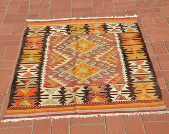 Home of Vintage Rug, Turkish Rug, Wool Rug, Small Rug, Boho Decor