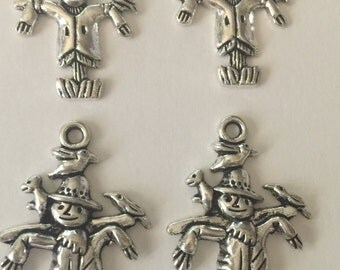Silver Scarecrow Charms