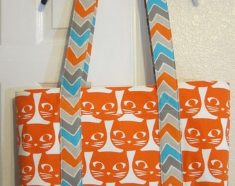 Kitty on Vacation Weekender Tote