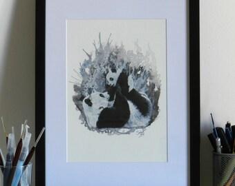 """Framed Prints """"Panda Decomposition"""""""