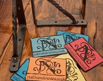 1 Pair Of Blacksmith Made Shelf Brackets