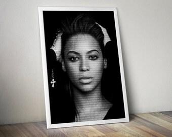 Beyoncé Poster Music Song Lyric Typography  Word Art 5x7 8x10 12x16 18 x 24