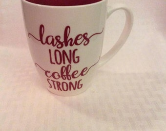 Lashes Long Coffee Mug