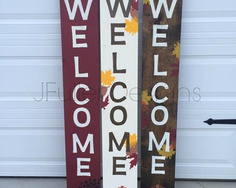 Fall Porch Welcome Sign