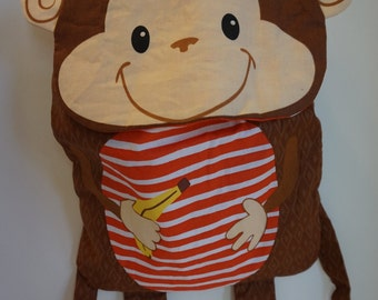 Monkey Fabric Backpack