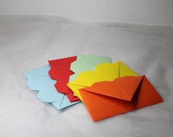 5pcs Heart Envelopes / Envelopes with Heart Shape / different colours / stationery / letter paper