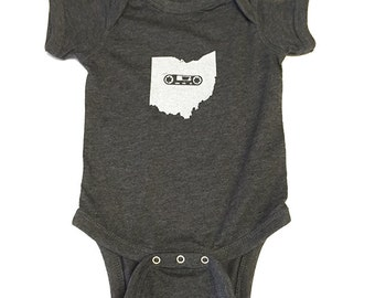 Ohio Mixtape- Infant Vintage Bodysuit