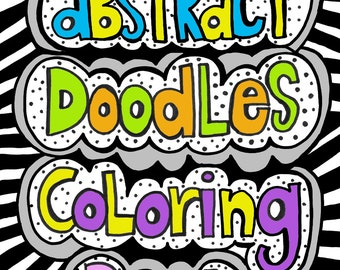 PDF Instant Download Abstract Doodles Coloring Book