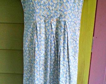 Vintage 90s Sunflower Print Liz Claiborne Dress Size