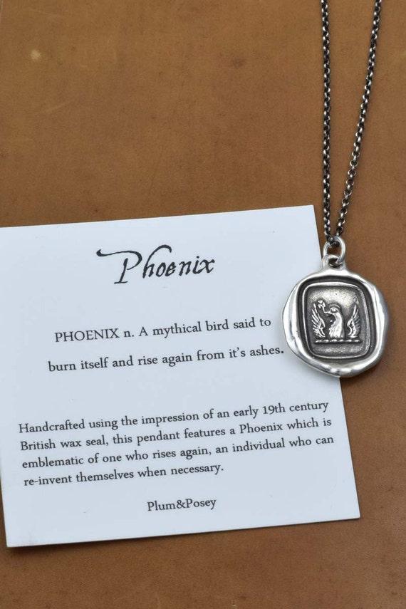 Phoenix Pendant from Antique Wax Seal - 181