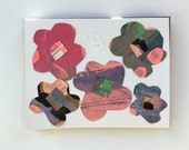 Chamisa Paper Flowers Collage Card - July 2016
