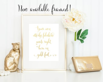 custom gold foil print silver foil custom print foil quote print personalized print gold foil wall art gold foil black