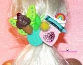 Random Findings Ice Cream Butterfly Barrette