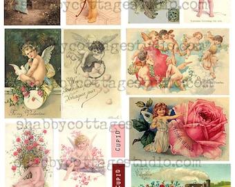 Valentine Images - Instant Download - Digital Collage Sheet - Printable Images - Printable Download - Digital Graphics - Vintage Style