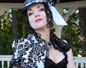Gothic Temptress Victorian Bridal Hat - Ready to Ship