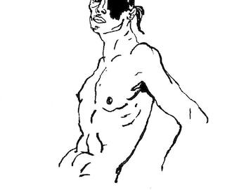 Original Drawing - Male 03 & 4
