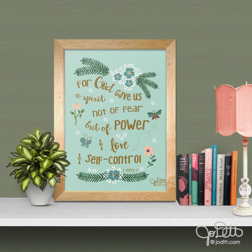 Bible Verse Printable by JoDitt Designs